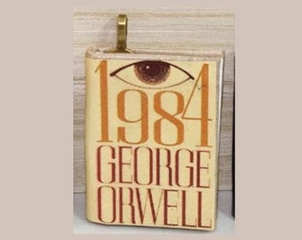 1984 Mini-Book Pendant - George Orwell - Book Jewelry, 1984 Necklace - Science Fiction, 1984 Pendant - Science Fiction Jewelry - Big Brother