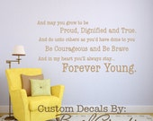 Wall Decal Forever Young