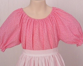 Girls Pioneer  Prairie Colonial Historical Handmade Pink   Costume  - Size 8/10 -   Ready to Ship