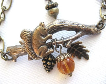 SALE Squirrel, Bracelet, Natural Jewelry, Twig Jewelry, Woodland Bracelet, Acorn Jewelry, THE ORIGINAL, Enchanted Forest, Unique Gifts