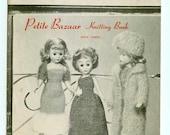 Vintage Virginia Lakin's Petite Bazaar Knitting Book Three Fashion Doll Patterns Barbie Etc. 1960s