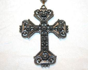 Florentine Cross Necklace Vintage Sarah Coventry Limited Edition