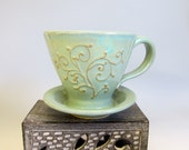 Custom Pour Over Coffee Maker in Turquoise for Bookjunky