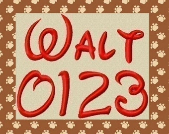 Walt Embroidery Font in 4 Sizes