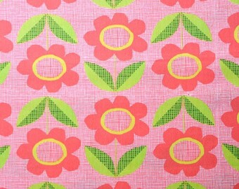 Sale, Monaluna, Organic Cotton Fabric, Blooms, by the yard
