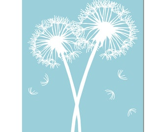 Dandelions Series I - 8x10 Floral Print - Bathroom, Kitchen, Nursery Decor - CHOOSE YOUR COLORS