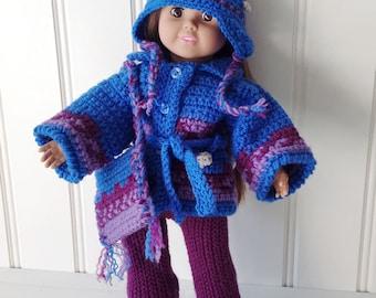 """18"""" Doll Icelandic Ensemble Crochet Pattern PDF"""