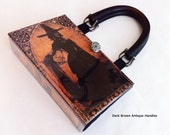 Witch Book Purse - WICCAN Book Clutch - History of Witches Book Purse - Salem Witch Book Cover Handbag