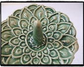 True Green Oriental Style Lotus Flower Ring Holder by misunrie