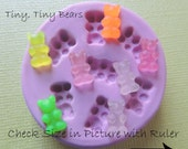 Bear Candy Gummy Tiny Family Silicone Mold Resin Clay Polymer Ceramic Soap Wax PMC