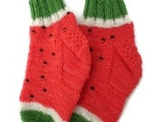 Baby Socks - Hand Knit Watermelon Socks