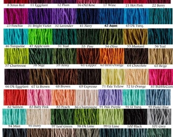 10 pcs Fairy Ribbons Pick Any Colors Silk Jewelry Cords Hand Dyed Necklace Ribbon