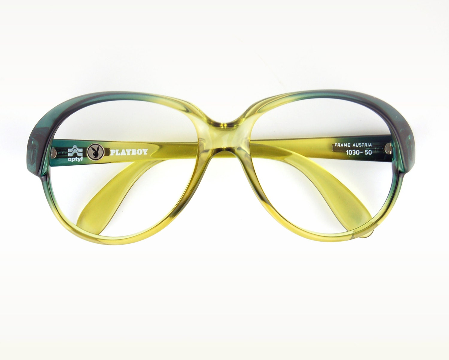 Jade Green Eyeglass Frames : Vintage Ombre Sun/eyeglasses Green Jade Fade to by thenovelty