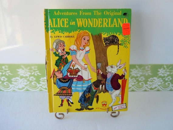 Vintage Childrens Book Alice in Wonderland Wonder Books