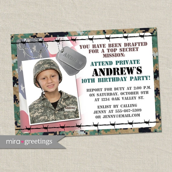 Army Birthday Invitations is an amazing ideas you had to choose for invitation design