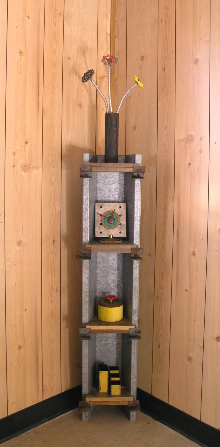 Pallet Wood And Repurposed Metal Shelf Upcycled Barn