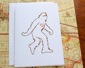 Even Sasquatch Loves - Stitched card
