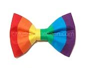 Rainbow Bow Tie, Brony Bow Tie for Boys, MLP Cosplay, Clip On Bow Tie, Dashing Bow Tie, Rainbow Pony, Bow Tie for Men