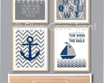 Kids Wall Art- Boys nautical print set