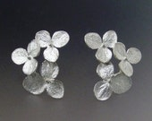 Flower Stud Earrings, Hydrangea Flower, Cluster Earrings, Silver Studs, Flower Earrings, Wedding Earrings, Post Earring, Made to Order