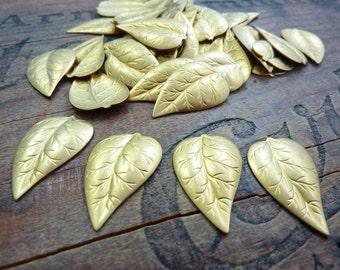 Vintage Brass Leaf Stamping (6)