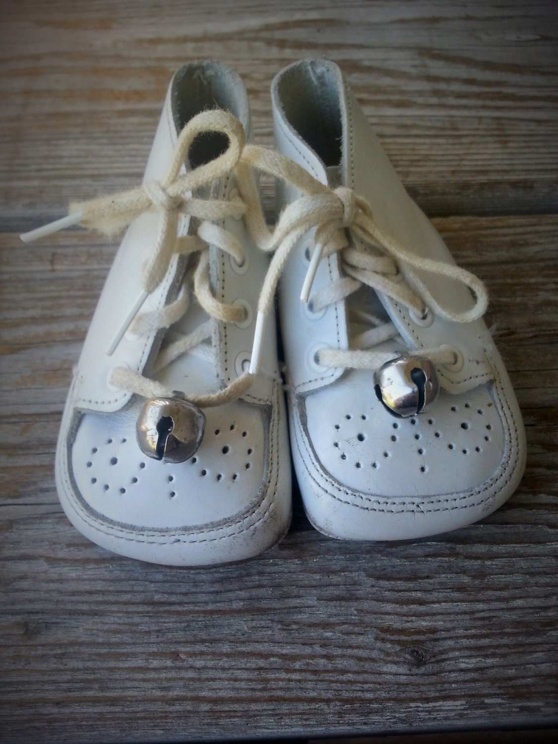 buster brown white leather baby shoes size by