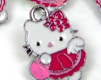5 Enamel Disney Hello Kitty Pendant Charm (e6967)