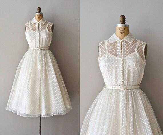 Little dreamer wedding dress swiss dot 50s wedding dress for Dotted swiss wedding dress