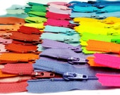 Sale 7 inch 40 colors (bright, light, neutral assortment) YKK No 3 Skirt & dress zippers nylon coil closed Bottom all purpose - Made in USA.