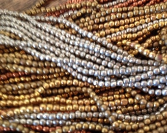 Ethnic African Silver Round SpaCer Beads 2 mm