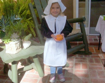 Pilgrim Accessories including traditional bonnet, apron and collar for Girls and Women