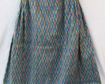 Thai handwoven silk skirt, one of a kind, designed  and sewn by Lagana