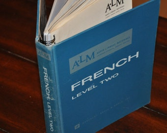 Upcycled Blank Book--French Textbook