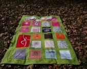 Turn your loved ones clothing into a memory quilt to treasure and love