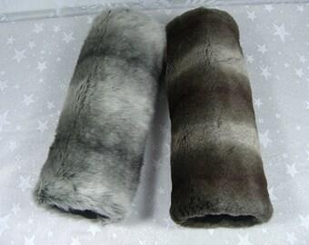 Sheared CHINCHILLA Hand MUFF, Women's Hand Muff, Faux Fur Muff,  Handmuff