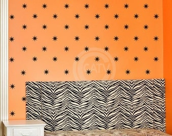 Vinyl Decal Star Bursts (3+ sizes and 35+ colors to choose) vinyl lettering quote wall saying decal sticker art