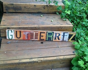Distressed and Rustic Custom-Made Picture Letters Name Signs