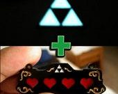 Hero Bundle- Triforce + Life Hearts geek video game jewelry sale deal