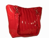 Retro Inspired Red Tote Bag