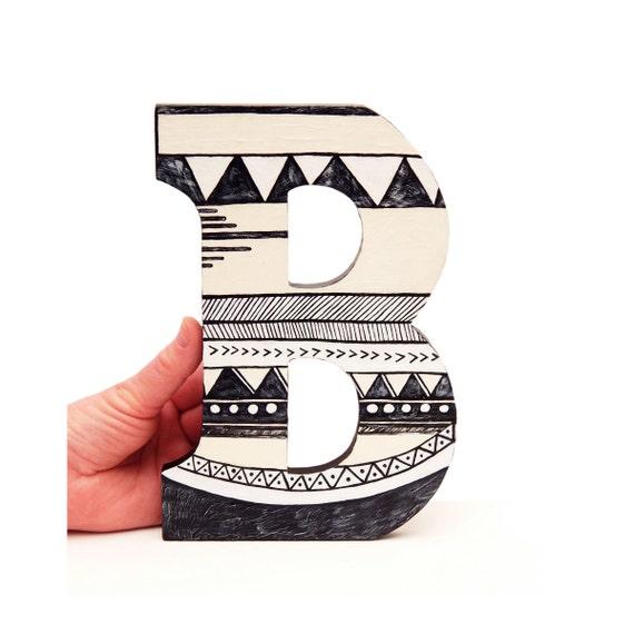 The Letter B Wall Decor : Letter b wall art geometric decor
