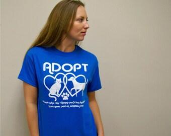 Valentines Day gift, Adopt, animal rescue, cat shirt, dog shirt, dog, cat, plus size, mens shirt, women shirt, for the volunteer