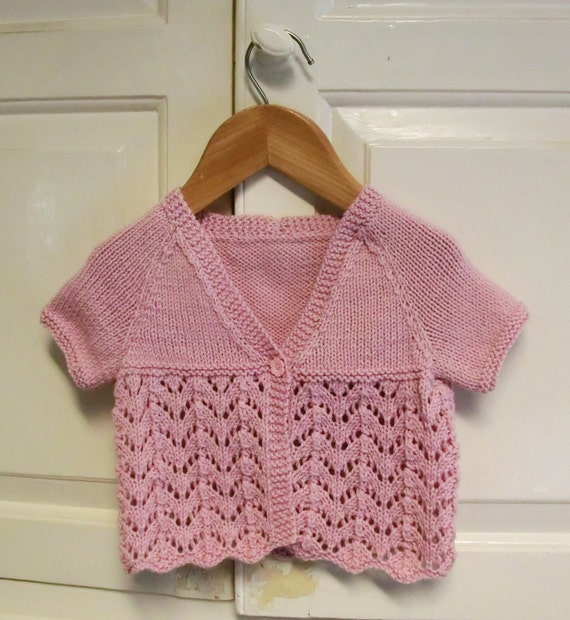 Summer Baby Cardigan Knitting Pattern instant download