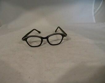 vintage grey cat eye glasses frames 1960s Liberty