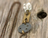"Modern Mixed Metal Necklace - ""Urban Cowgirl"""