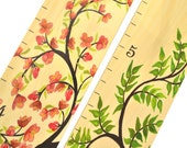 Tree of Life Wooden Ruler Growth Chart / Kids Height Chart / Wood Growth Chart Ruler / Baby Shower Gift