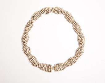 Vintage Twisted Rhinestone Necklace