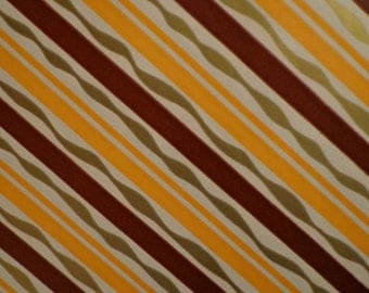 Vintage Gift Wrap All Occasion 1960s Wrapping Paper - Chocolate, Tangerine and Gold Stripe 2 Sheets