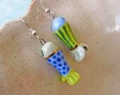 Tropical Fish Earrings Handmade Beads