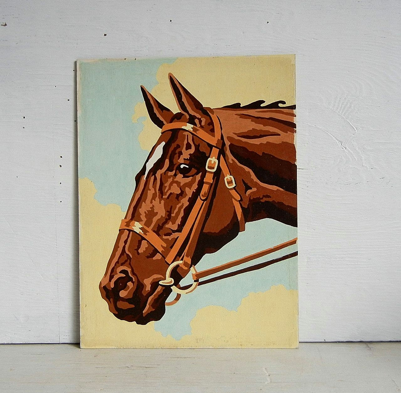 Vintage Horse Paint By Number Painting Pony Mare Stallion Pbn