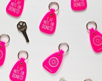 donut keychain - I Go Nuts For Donuts!